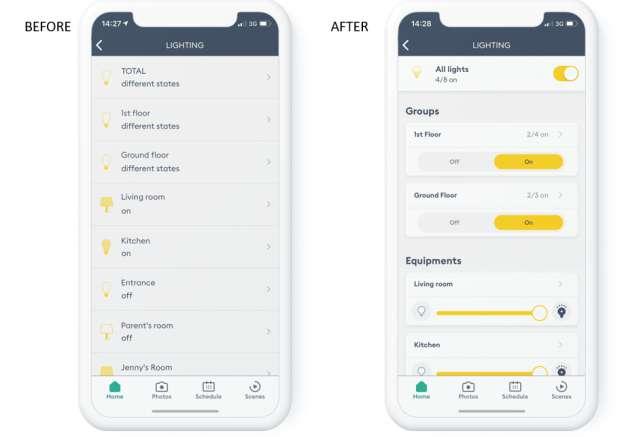 Screenshot Tydom app update 2021