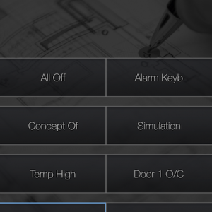 B&B domotica iOS app general buttons